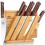 Knife Set and Cutting Board, imarku 10 Piece Kitchen Knife Set with Block, Japanese German Chef Knife Set Professional