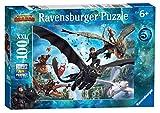 Ravensburger- Puzzle 100 Pièces XXL Le monde caché Dragons 3 Puzzle...