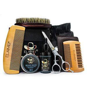 6 Pcs/set Beard Growth Kit,Anself s Beard Care Tool Set Beard Comb+Beard Brush+Beard Trimming...