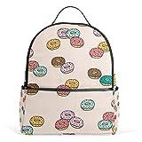 Backpack Donut Mens Laptop Backpacks Shoulder Hiking Daypack