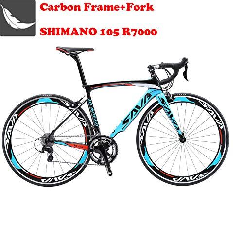 Sava Bicicleta de Carretera de Fibra de Carbono 700C Shimano 5800...