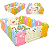 Playpen Activity Center for Babies and Kids - Multicolor 16-Panel Set...