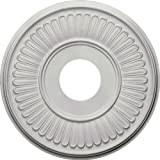Ekena Millwork CM15BE Berkshire Ceiling Medallion, 15 3/4'OD x 3 7/8'ID x 3/4'P (Fits Canopies up to 7'), Factory Primed