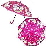 BDWS Paraguas Paraguas Que Cambia de Color, Paraguas Transparente para niños,Película RainbowredRainbow