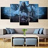 Haojie Arte Mural en Lona y Cinco Piezas-Cuatro tamaños-Pintura de Pared-impresión de fotografías-decoración del hogar-Dios de la Muerte,B,XL