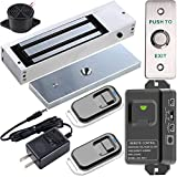 UHPPOTE 2.4GHz WiFi Outswinging Indoor 1200lb Electric Magnetic Door Lock Kit System with Remote and Smartphone app Control