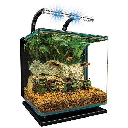 Marineland Contour 3 aquarium Kit 3 Gallons, Rounded Glass...
