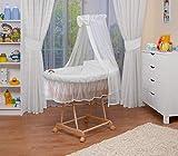WALDIN Landau/berceau pour bébé complet,24 modèles disponibles,Cadre/Roues non traitée, couleur du tissu blanc