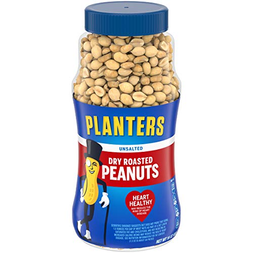 Planters Dry Roasted Unsalted Peanuts (16 oz Canister)