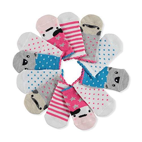 Ebebek HelloBaby - 6 paia di calzini colorati in cotone, per bambine e neonate Koala. 3 anni