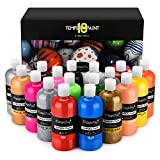 Magicfly 18 Colors Tempera Paint Set for Kids, Large Volume(12.85 fl oz./380 ml), Non-Toxic Washable Color (Basic, Neon, Glitter, Metallic Colors), Perfect for Finger Paint, Sponge and Poster Paint