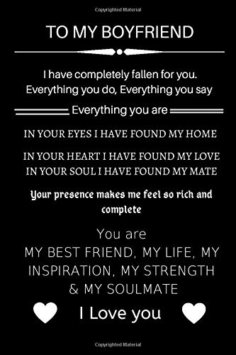 To my boyfriend, I have completely fallen for you.: Journal Cute Valentine's Day Gift for Boyfriend from Girlfriend,Couple Romance Christmas birthday (Gift For Him)