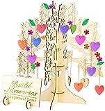 Arbre à souhaits en bois 3D comme livre d'or de mariage, ornements en bois...