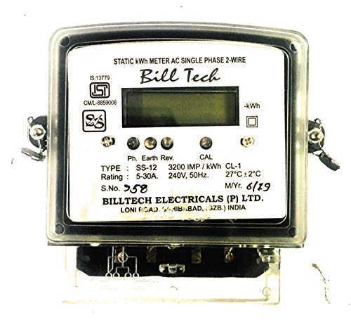 Billtech Sub Meter Single Phase 2 Wire LCD Display Big Body Rating 5-30A