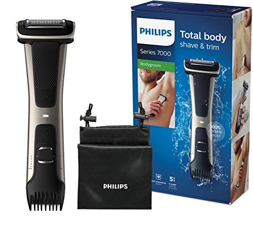 Philips BG7025/15 Bodygroom 7000 Depilatore Corpo da Uomo, Wet&Dry, Pettini Regolabili 3-11 mm,...