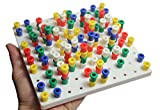 Curious Minds Busy Bags Small White Peg Board Toy - Fine Motor Toy for Toddlers and Preschoolers - Occupational Therapy
