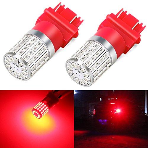 Phinlion 3157 Red LED Brake Light Bulb Super Bright 3014 72-SMD 3056 3156 3057 4057 4157 LED Bulbs for Tail Brake Stop Turn Signal Blinker Lights