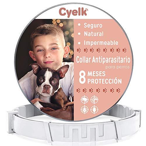 Cyelk Collar Antiparasitos Perro, contra Garrapatas y Pulgas, Collar...