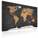 murando Carte du Monde 120x80 cm Tableau en Liège & Tableau sur Toile Intissee XXL Impression...