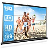 Pyle 50' Inch Portable Projector Screen - Portable Floor Standing Fold-Out Roll-Up Tripod Manual, Mobile Movie Screen, Home Theater Cinema Wedding Party Office Presentation, Quick Assembly - PRJTP53