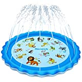 Homech Sprinkler for Kids, Splash Pad, Outdoor Inflatable Sprinkler Water Toys, Wading and Learning, 68' Kiddie Water Play Mat Toys,Baby Wading Swimming Pool for 2-12 Years Old Baby and Toddler Girls