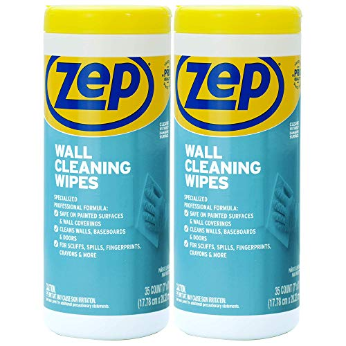 NEW Zep Wall Cleaning Wipes (Pack of 2) - Remove stains from walls...