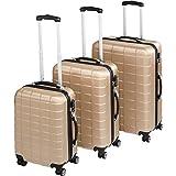 TecTake Set de 3 valises de Voyage de ABS | avec Serrure à Combinaison...