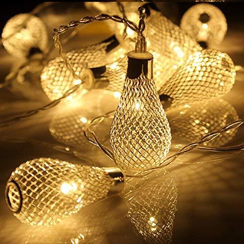 PESCA Decorative String Lights Metal Drop 3 Meter 16 Led Decoration Lights Warm White (Yellow)