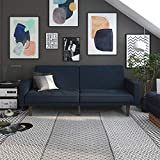 DHP Paxson Stylish Upholstered Futon - Navy Blue Linen