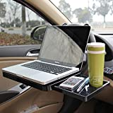 Silence Shopping Multi-Functional Car Vehicle Seat Portable Foldable Car Seat Back Pc Mount Tray Black Table Laptop Notebook Desk Table Car Dining Food Drink Desk Cup Holder