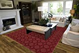 Garland Rug Sparta Area Rug, 6' x 9', Chili Pepper Red