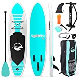 SereneLife Premium Inflatable Stand Up Paddle Board (6 Inches Thick) with SUP Accessories & Carrying Storage Bag | Wide Stance, Bottom Fin for Paddling, Surf Control, Non-Slip Deck | Youth & Adult