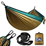 NATUREFUN Hamac Ultra-léger de Voyage Camping   300 kg Capacité de Charge,(275 x 140 cm) Nylon à Parachute  2 x Mousquetons de qualités, 2 x Sangles de Nylon  pour Jardin d'interieur/extérieur