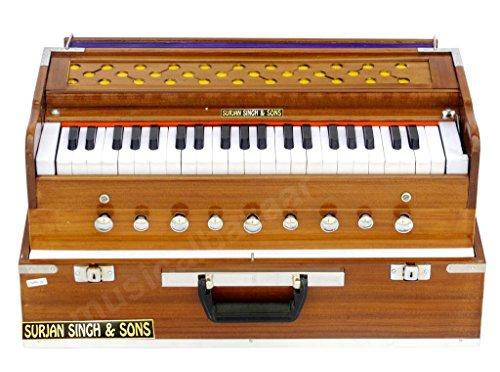 Surjan Singh & Sons Folding 9 Stopper,7 Ballow,42 Keys and Cupler Harmonium