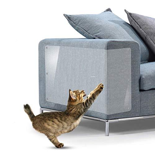 D.F.L Cat Scratch Mobili, Protezione Graffi Gatto, 6Pack X-Large Tappetini Tiragraffi Gatti per Divano, con 36 Viti (XL:17*12in)