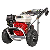 SIMPSON Cleaning ALH3425 Aluminum Gas Pressure Washer Powered by Honda GX200, 3600 PSI @ 2.5 GPM, Black & Red
