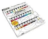 Pébéo - Studio Acrylics Etui 30 Tubes de 20 ml Assortis et Pinceau - Kit...