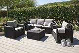 Allibert Lounge Sofa California 3-Sitzer Rattan grau - 4