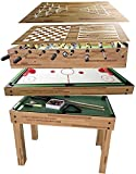 JODELA Game Table with Foosball Table Pool Table Slide Hockey Games for Family,1 Set of Popular Game Tables 5in1 Multi-Use Game Table Gaming Desk for Children Adult