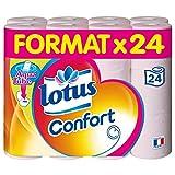 Lotus Confort - Papier toilette 2 épaisseurs Rose - 24 rouleaux