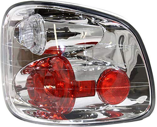 Tail Light Lens and Housing Compatible with 2001-2003 Ford F-150 Flareside Regular/Super Cab with Lightning Model Passenger Side