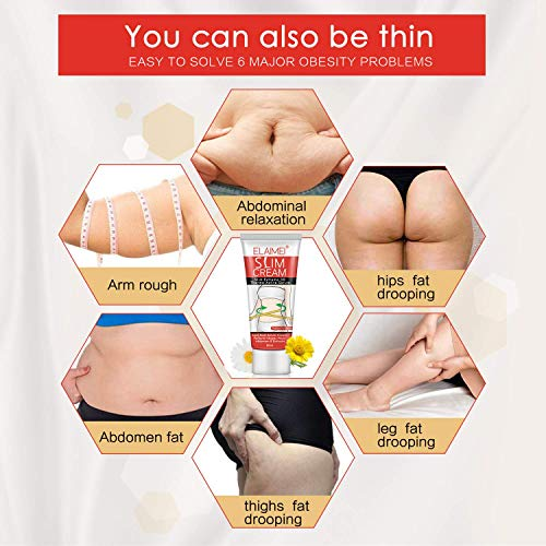 Body Hot Cream, 2 Pack Anti Cellulite Cream, Slimming Cream for Abdomen, Belly, Tummy, Legs and Waist - Firming Cream for Weight Loss, Body Fat Burning Massage Gel-2×60ML 5
