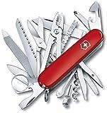 Couteau de poche Victorinox Swisschamp (33 fonctions, Pince universelle, scie à bois et scie à métaux) rouge