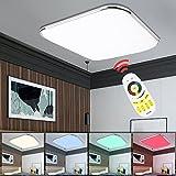 vingo lámpara Techo 36W RGB Regulable Resistente al Agua lámpara de Techo Moderna LED luz de Techo Dormitorio Cocina Sala de Estar Comedor lámparas