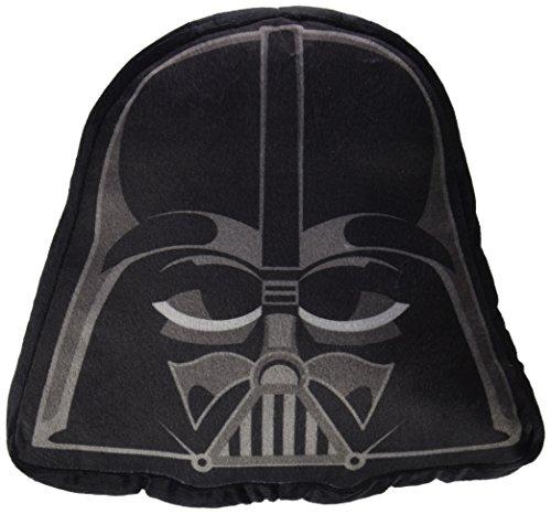 STAR WARS Cojín Forma Dart Vader 34x34 cm, Otro Material, Negro