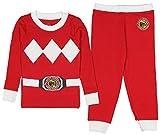 INTIMO Kids Mighty Morphin Power Rangers Costume Pajama Set (Red, 6)