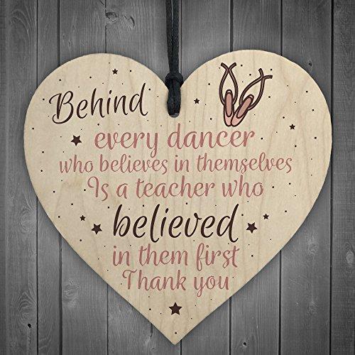 XLD Store Thank You Dance Teacher Gift Wooden Heart Special...
