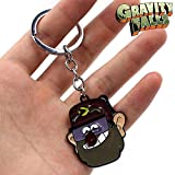 DEOLBA Waddle Bill Cipher Metal Keychain for Gravity Falls Hot Anime Dipper Mabel Keyring Costume Pendants Key Ring Ornament Decor