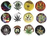 MARIJUANA Marihuana Grass #6 Impresionante calidad lote 12 nuevo pin botn insignia 3,2 cm