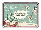 Cavallini Papers & Co., Inc. Christmas Winter Wonderland Glittered Gift Tag Set